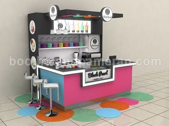 Bubble Tea Shopping Mall Stand
