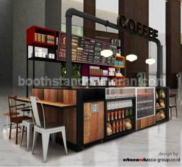 Coffee shop booth